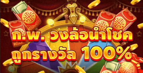 【HUC99】กุมภาพันธ์ – วงล้อนำโชค ถูกรางวัล 100%